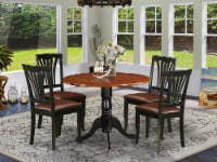DLAV5-BCH-LC 5 PC Kitchen Table set-Dining Table and 4 Kitchen Chairs - 1
