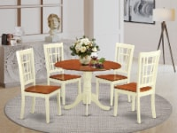 DLNI5-BMK-W Dining room sets for 4 -Dining Table and 4 Dining Chairs - 1