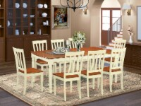 DOAN9-WHI-W 9 Pc Dinette set -Dinette Table and 8 Dining Chairs - 1