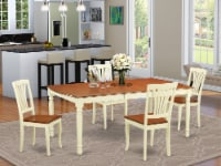 DOAV5-WHI-W 5 PC dinette Table set - Kitchen Table and 4 Dining Chairs - 1