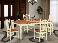 DOVE5-WHI-W 5 Pc Dinette set for 4-Dining Table and 4 Kitchen Dining Chairs - 1