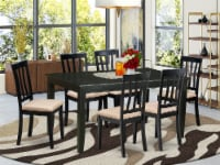 DUAN7-BLK-C 7 Pc Dinette set for 6-Table and 6 dinette Chairs - 1