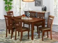 East West Furniture Dudley 7-piece Wood Dining Room Set in Mahogany - 1