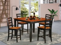 5 PC counter height Dining set- Square Counter height Table & 4 Chairs - 1