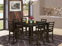 East West Furniture Fairwind 7-piece Wood Dining Set in Cappuccino - 1