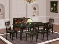 HEAN7-CAP-LC 7 Pc Dining set-Table with Leaf and 6 Dinette Chairs. - 1