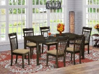 7 Pc formal Dining room set-Dinette Table featuring Leaf and 6 Dining Chairs. - 1