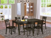 HELY7-CAP-W 7 Pc Dining set-Dining room set-Table and 6 Dinette Chairs. - 1