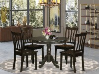 HLAN5-CAP-W 5 Pc Kitchen Table set- Table and 4 dinette Chairs. - 1