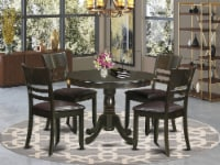 HLLY5-CAP-LC 5 Pc small Table and Chairs set-Dining Table and 4 dinette Chairs - 1