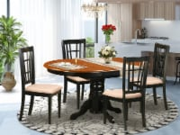 KENI5-BCH-C 5 PC Kitchen Table set-Dining Table with 4 Wood Kitchen Chairs - 1