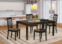 LYAN5-CAP-C 5 Pc Dining set for 4-Kitchen Tables with Leaf and 4 Kitchen Chairs - 1