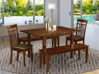 5 Pc dinette set for small spaces-Tables and 2 Dining Chairs and 2 Benches - 1