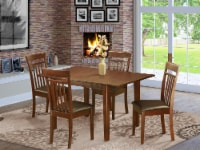 MLCA5-MAH-LC 5 Pc Kitchen dinette set-Kitchen Tables and 4 Dining Chairs - 1