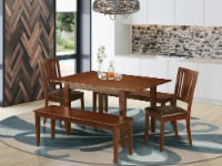 MLDU5D-MAH-LC 5 Pc Kitchen dinette set-small Tables plus 2 Chairs and 2 Benches - 1