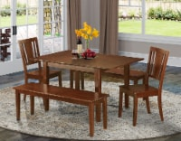 5 Pc dinette set for small spaces-Tables 2 Dining Chairs and 2 Benches - 1