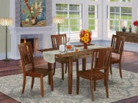 Mldu5-Mah-W 5 Pc Kitchen Dinette Set-Breakfast Nook And 4 Chairs For Dining Room - 1