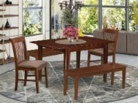 MLNO5C-MAH-C 5 Pc dinette set-small Dining Tables and 4 Kitchen Dining Chairs - 1