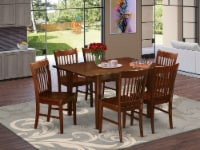 MLNO7-MAH-W 7 Pc Kitchen nook Dining set-Kitchen Tables and 6 Dining Chairs - 1