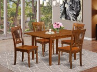 MLPL5-SBR-W 5 Pc Kitchen nook Dining set-Kitchen Tables 4 Chairs for Dining room - 1