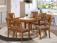 MLPL7-SBR-C 7 Pc Kitchen dinette set-Kitchen Tables and 6 Kitchen Chairs - 1