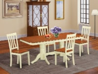 NAAN5-WHI-W 5 PcKitchen nook Dining set - Dining Table and 4 Kitchen Chairs - 1