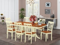NAAN9-WHI-W 9 Pc Dinette set for 8- Dinette Table and 8 Dining Chairs - 1