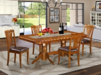 NAAV5-SBR-LC 5 PC Dining Table and 4 Dining Chairs - 1
