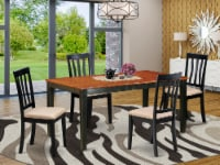 NIAN5-BCH-C 5 PC Kitchen Table set-Dining Table and 4 Wooden Kitchen Chairs - 1