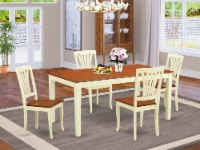 NIAV5-WHI-W 5 Pc dinette set for 4-Dinette Table and 4 Kitchen Dining Chairs - 1