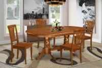 PLAV5-SBR-W 5 Pc Dining set-Dining Table plus 4 Dining Chairs - 1