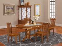 PLPO5-SBR-W 5 Pc Dining room set-Dining Table and 4 Dining Chairs - 1