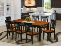 QUPL9-BCH-W 9 Pc Dining room set-Dining Table and 8 Wood Dining Chairs - 1