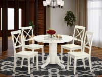 SHBO5-WHI-W 5 PC Kitchen nook Dining set - Kitchen Table and 4 dinette Chairs - 1