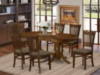 East West Furniture Vancouver 7-piece Wood Dining Table Set in Espresso - 1
