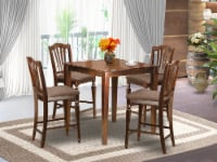 East West Furniture Vernon 5-piece Wood Kitchen Set in Mahogany - 1