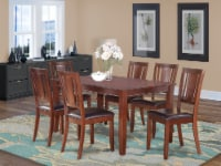 DULE7-MAH-LC 7 Pc Dining room set-Dinette Table and 6 Kitchen Dining Chairs - 1