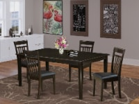 HECA5-CAP-LC 5 Pc Dining room set-Table with Leaf and 4 Dinette Chairs. - 1