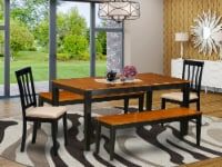 NIAN5N-BCH-C 5 Pc Dining set with bench-Kitchen Tables and 2 Chairs Plus 2 bench - 1
