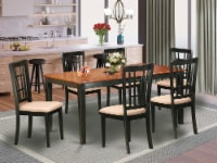 NICO7-BLK-C 7 Pc Dining room set-Kitchen Tables Plus 6 Kitchen Chairs - 1