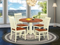 DLWE5-BMK-W 5 Pc Dining set with a table & 4 Chairs in Buttermilk & Cherry - 1