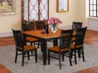 East West Furniture Parfait 7-piece Wood Kitchen Set in Black/Cherry - 1