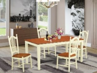 NIDO5-WHI-W 5 Pc Dining room set - Dinette Table and 4 Kitchen Dining Chairs - 1