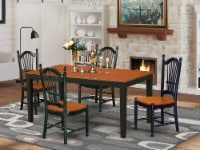 NIDO5-BCH-W 5-Piece dinette set for 4-table & 4 Chairs in Black & Cherry - 1