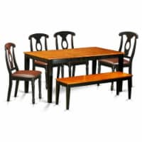 NIKE6-BCH-LC 6-Pc Dining set with bench-Tables and 4 Dining Chairs Plus bench - 1