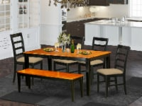 NIPF6-BCH-C 6-Pc Dining set with bench-Kitchen Tables and 4 Chairs Plus bench - 1