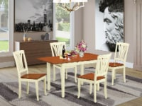 NOAV5-WHI-W 5 Pc Dinette set for 4-Kitchen Table and 4 Dining Chairs - 1
