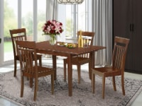 NOCA5-MAH-W 5 Pc Kitchen table set - Table with Leaf and 4 Dining Table Chairs - 1