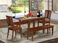 5 PC dinette set for small spaces - Table plus 2 Chairs and 2 Benches - 1