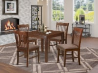 OXNO5-MAH-C 5 Pc Kitchen Table set - square Table and 4 Dining Chairs - 1
